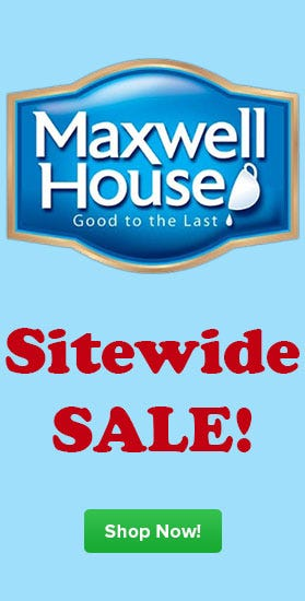 Shop Maxwell House Coffee Sale, Free Shipping, Special Delivery, Decaf, Ultra, Master Blend, French Roast, 4 Cup, Filter Pack, In Room