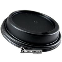 Black Domed Lid for Paper Cups