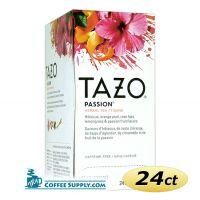 Tazo Passion Tea 24 ct. Box | Herbal Infusion Tea, Mango, Passion Fruit Flavored Hot Tea Bags.