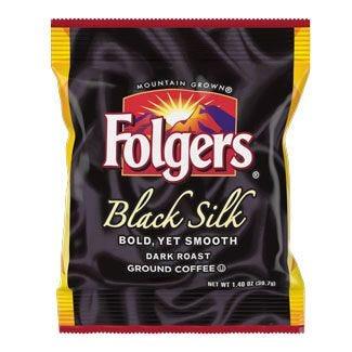 Folgers Black Silk Coffee 40 / 1.4 oz. Case
