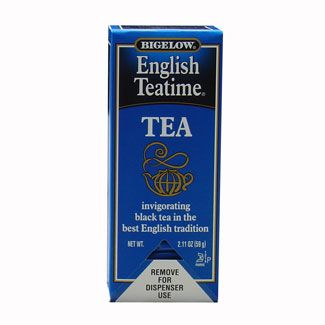 Bigelow English Teatime Hot Tea Bags 28 ct. Box