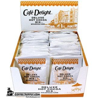 Cafe Delight Deluxe Hot Cocoa Mix 50 ct. Box