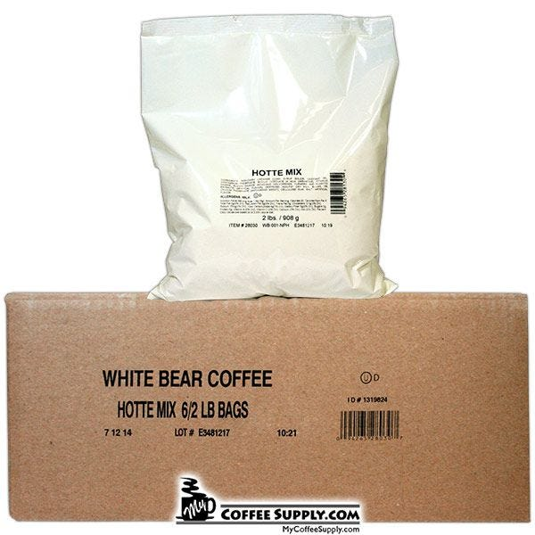 White Bear Cappuccino Topping Hottie Mix 6/2 lb. Bags