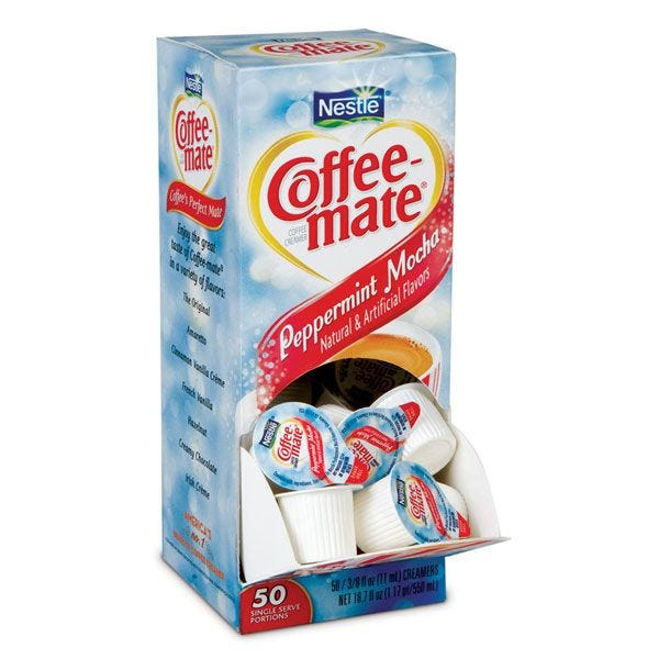 Coffee-mate Peppermint Mocha Liquid Creamer 50 ct. Box