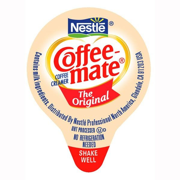 Coffee-mate Original Liquid Creamers 180 ct. Case