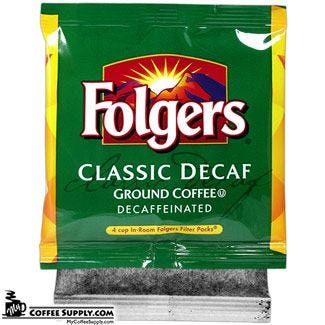 Decaf Folgers 4 Cup Coffee Filter Pack 200 ct. Case