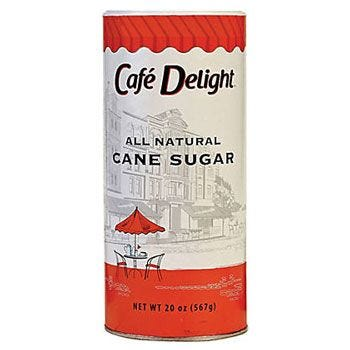 Cafe Delight Sugar Canister 20 oz.