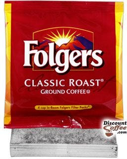 Folgers Classic Roast 4 Cup In-Room Coffee Filter Pack