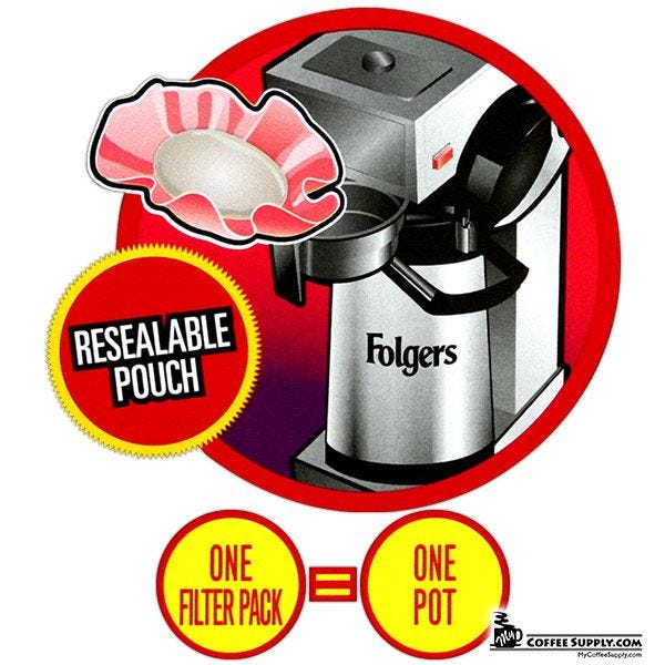 Folgers 100 Colombian Filter Pack Coffee 1.40 oz