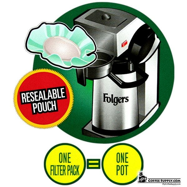 Folgers Decaf 100 Colombian Filter Pack Coffee 1.40 oz