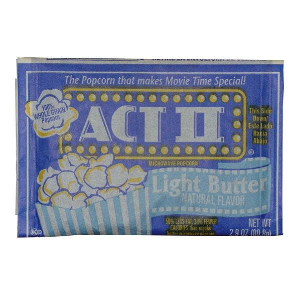 Act II Light Butter Popcorn - Microwave Popcorn