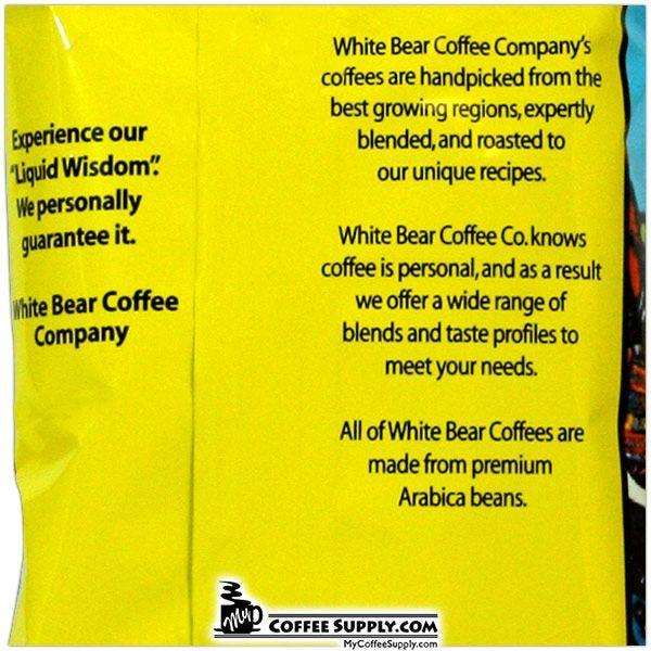 White Bear Maui Blend Dark Roasted Coffee 42 / 2 oz. Case