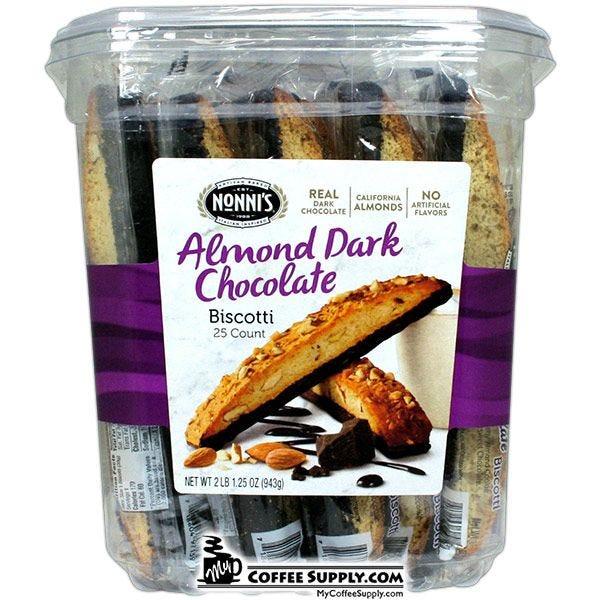 Nonni's Almond Dark Chocolate Biscotti