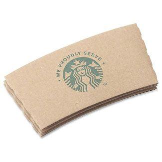 Starbucks Brand Logo Paper Hot Cup Sleeve Jackets