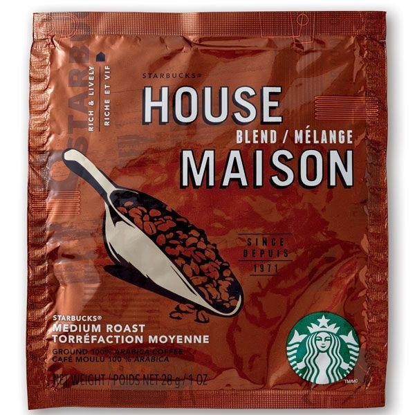 Starbucks House Blend Filter Pack 30 ct. Case