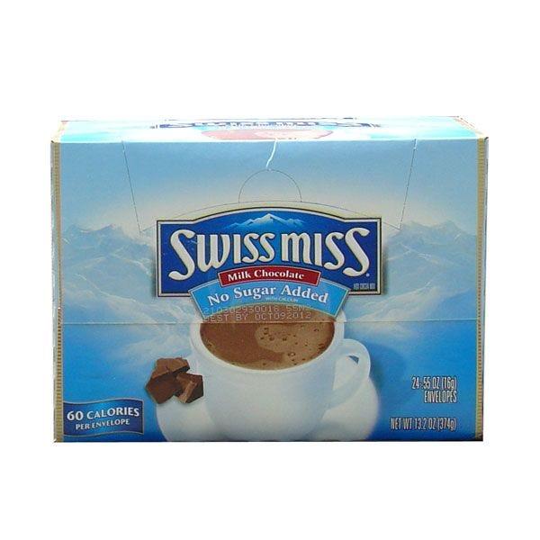 Swiss Miss No Sugar Added Hot Chocolate   24 ct.