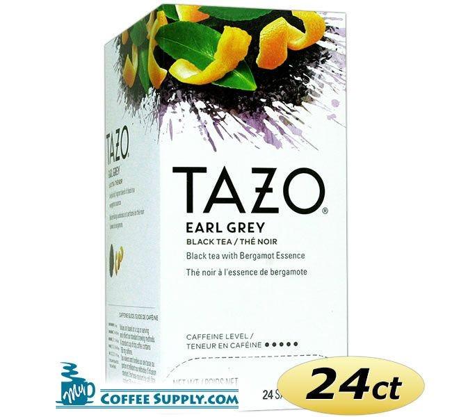 Tazo Earl Grey Tea 24 ct. Box | Black Tea, Spicy, Lavender, Lemon, Bergamot Flavored Hot Tea Bags.