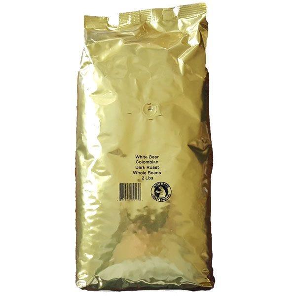 White Bear Colombian Whole Bean Coffee 2 lb. Bag